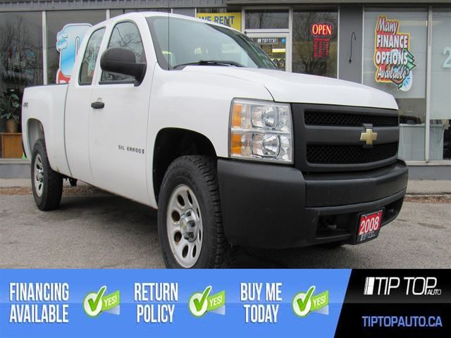 2008 Chevrolet Silverado 1500 WT ** Clean Carfax, 5.3L V8, 4x4, Well Maintain in