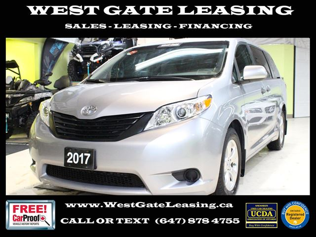 2017 Toyota Sienna  CAMERA  BLUETOOTH  WARRANTY 11/2021  in