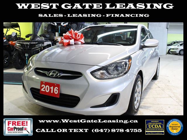 2016 Hyundai Accent  AUTO  CERTIFIED  WARRANTY 08-2021  in