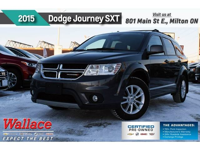2015 DODGE Journey SXT/LOW KM/CLEAN HSTRY/7-SEATER/17S/6-SPEAKR/ in Milton, Ontario