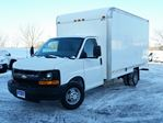 2013 Chevrolet Express 3500 14' CUBE/BOX/STAKE TRUCK--C/W BOX HEATER in Belleville, Ontario