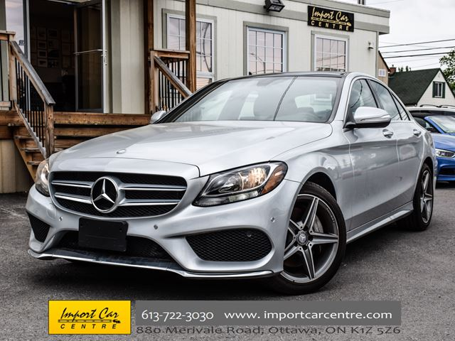 2015 MERCEDES-BENZ C-Class C300 4MATIC ROOF NAV BK.CAMERA LOW KMS WOW!! in Ottawa, Ontario