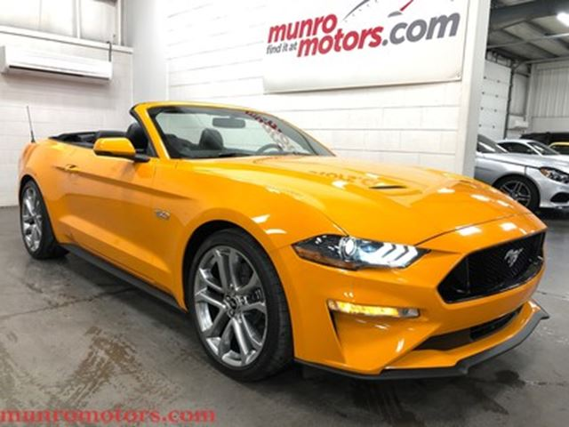 2018 FORD Mustang GT Premium Orange Fury NAV 10 Speed Auto in St George Brant, Ontario