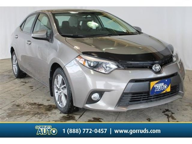 2015 TOYOTA Corolla LE ECO/NAVI/LEATHER/MOONROOF/BACKUP CAMERA in Milton, Ontario