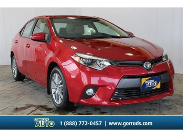 2015 TOYOTA Corolla LE Upgrade NEW TIRES/MOONROOF/BACK-UP/H.SEATS in Milton, Ontario
