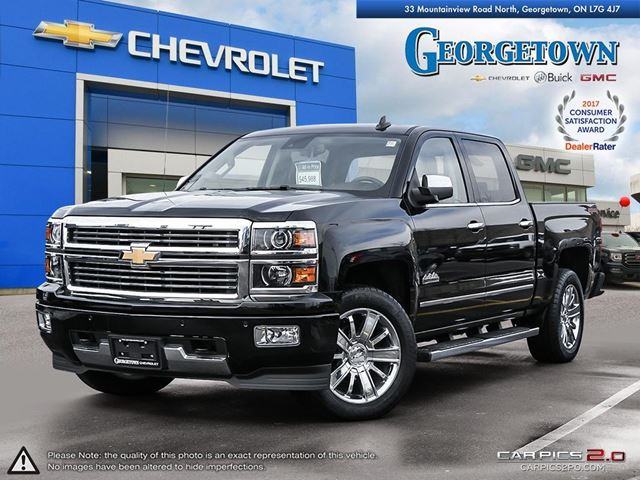 2015 CHEVROLET Silverado 1500 High Country HIGH COUNTRY|CREW CAB|4X4|NAV|PARK ASSIST|BOSE AUDIO|HEATED/COOLED SEATS|REMOTE START|TRAILER PKG in Georgetown, Ontario