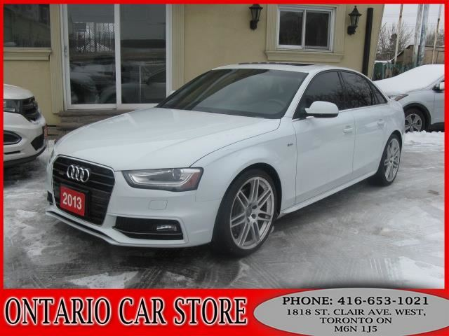 2013 AUDI A4 S-LINE QUATTRO !!!1 OWNER NO ACCIDENTS!!! NAVI. in Toronto, Ontario