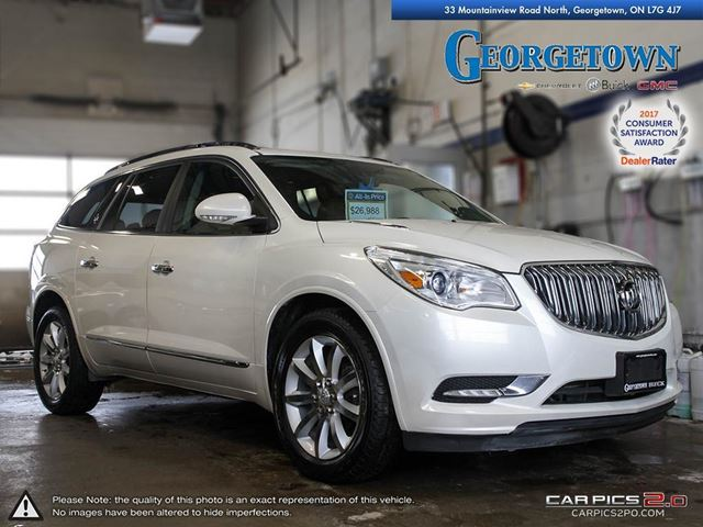 2015 BUICK Enclave Premium PREMIUM|AWD|LEATHER|MOONROOF|REAR ENTERTAINMENT|REAR PARK ASSIST|HEATED SEATS/STEERING WHEEL|REMOTE  in Georgetown, Ontario