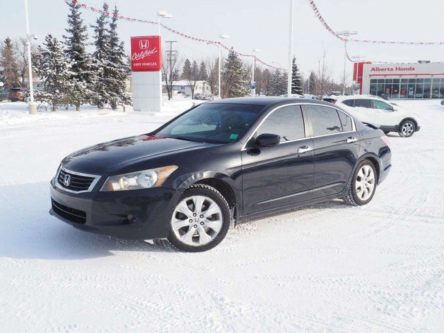 2008 HONDA ACCORD  EX-L. Clean Carproof. Heated Leather Seats and Mirrors. Traction Control. Sunroof. Dual Climate. HomeLink in Edmonton, Alberta