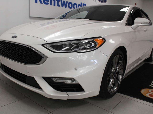 2017 FORD Fusion Sport AWD ecoboost, NAV, sunroof, heated/cooled power leather seats, push start/stop, back up cam in Edmonton, Alberta