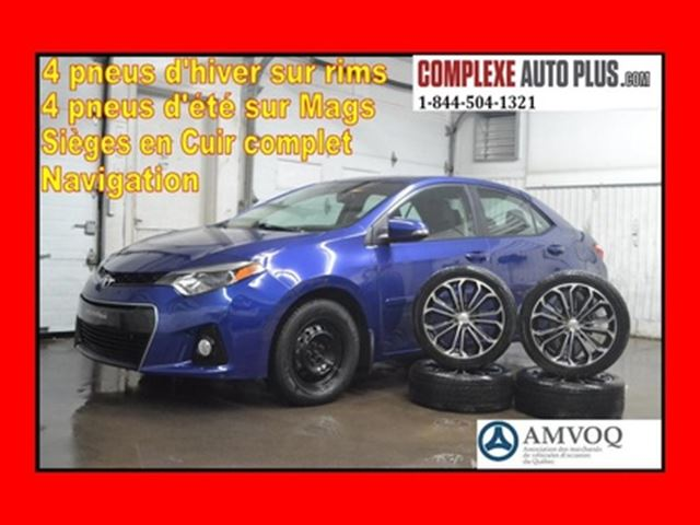 2016 TOYOTA COROLLA *Mags,GPS,Full Cuir,Toit ouvrant,Caméra in Saint-Jerome, Quebec