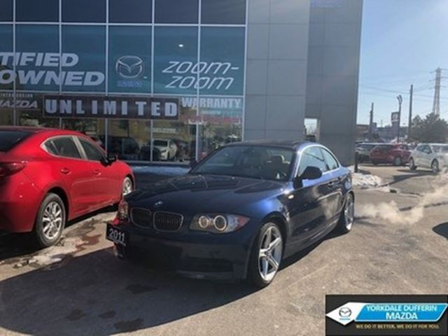 2011 BMW 1 Series i, NAV, BLUETOOTH, SUNROOF, LEATHER, NO ACCIDENT in Toronto, Ontario