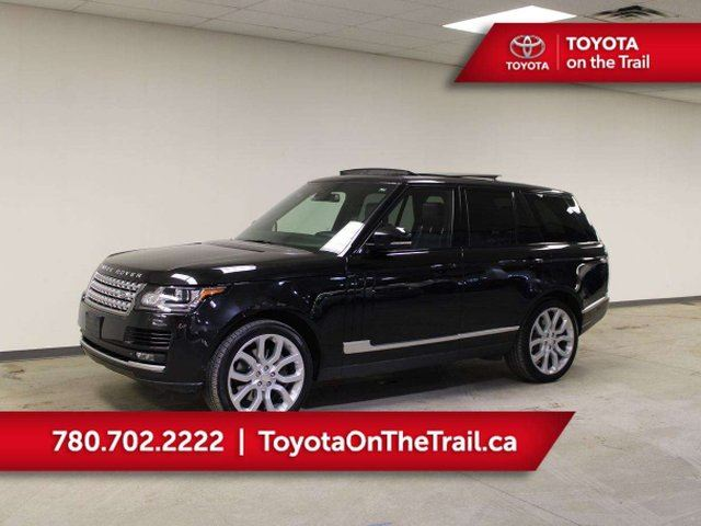 2014 LAND ROVER Range Rover RANGE ROVER; SUPERCHARGED 510HP!!! PANORAMIC SUNROOF, LEATHER, NAV, HEATED/COOLED SEATS, SMART KEY, AWD in Edmonton, Alberta
