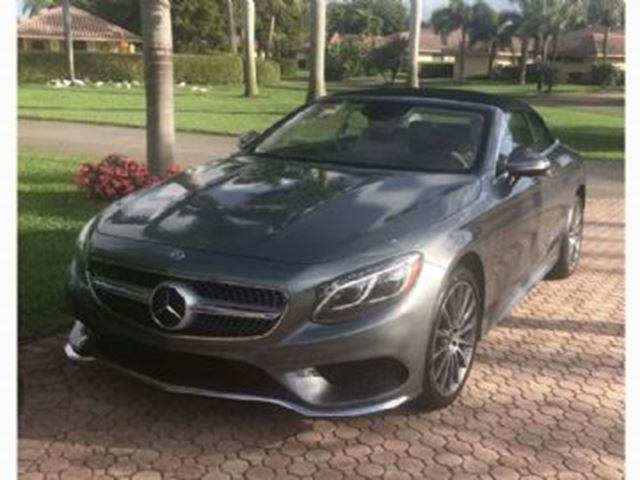 2017 MERCEDES-BENZ S-Class S550 CABRIOLET 2017 LOW KMS in Mississauga, Ontario