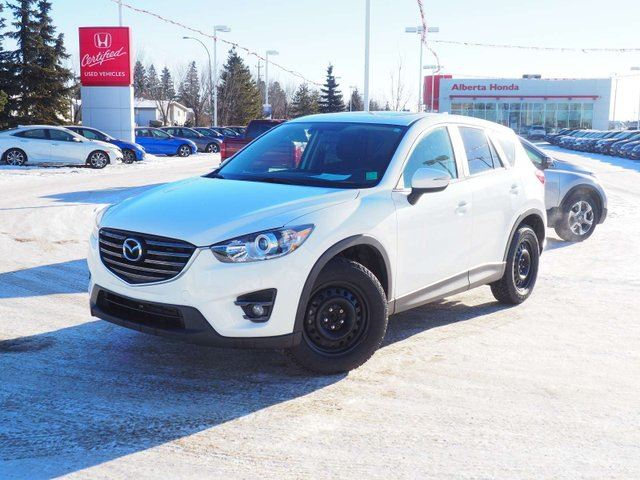 2016 MAZDA CX-5 GS. Low Kms. Clean Carproof. Sunroof. Heated Power Seats. Back-up Cam. BlindSpot Info. Remote Starter. Traction Control. 3M Protection. 2 Set of Tires and Rims. Sport Mode in Edmonton, Alberta