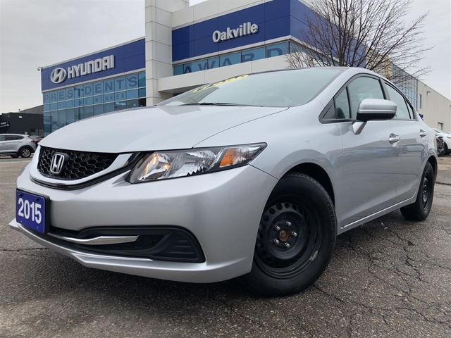 2015 HONDA Civic EX  1.8L  A/T  ALLOYS  ROOF  2 SET TIRE in Oakville, Ontario