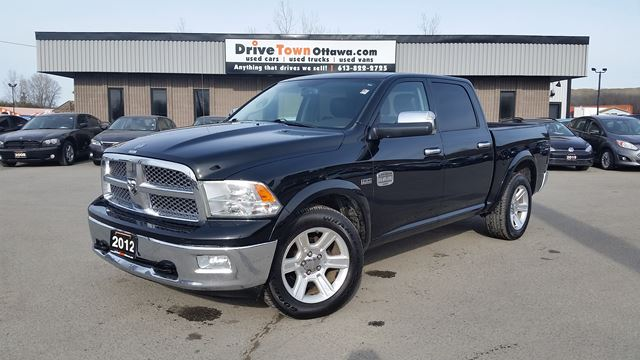 2012 DODGE RAM 1500 LARAMIE LONGHORN CREW 4X4 **NAV**MOONROOF**LEATHER** in Ottawa, Ontario