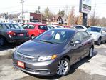 2012 Honda Civic EX,AUTO,A/C,SUNROOF,BLUETOOTH,ALLOYS,CERTIFIED in Kitchener, Ontario