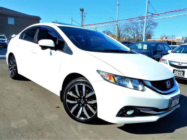 2014 HONDA Civic TOURING.NAVI.REVERSE.BLIND SPOT CAM  LEATHER.RO in Kitchener, Ontario