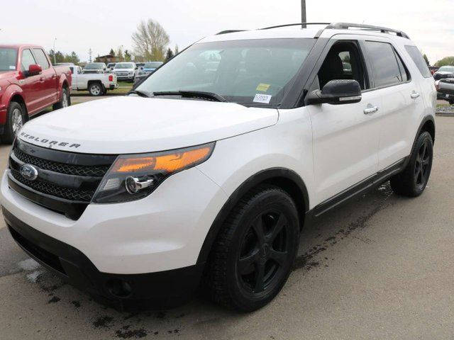 2013 FORD Explorer SPORT, 400A, 3.5L ECOBOOST, 4WD, SYNC, NAV, REAR CAMERA, HEATED FRONT SEATS, DUAL PANEL ROOF, REAR DVD, REVERSE SENSING, ADAPTIVE CRUISE, LTHR in Edmonton, Alberta