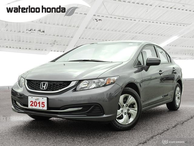 2015 HONDA CIVIC LX OUR USED VEHICLE SALES TEAM IS NOW LOCATED IN THE MAIN BUILDING FACING KING STREET.  in Waterloo, Ontario