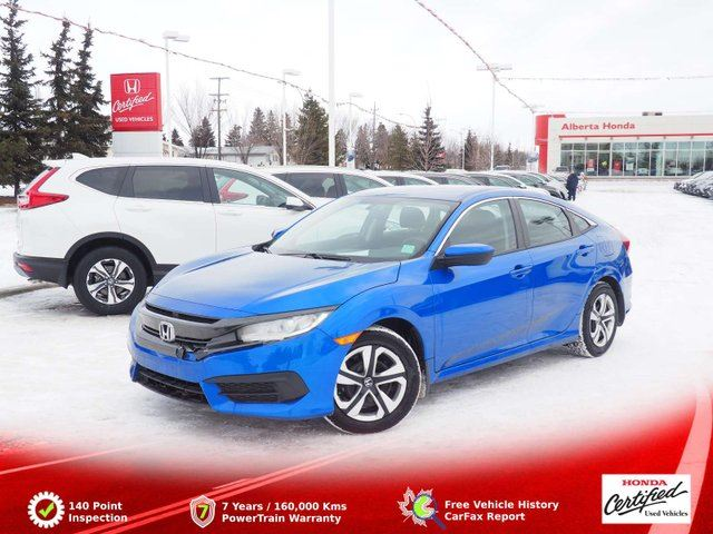 2016 HONDA Civic LX. Low Kms. Eco. Traction Control. Heated Seats. Power Windows and Heated Mirrors. in Edmonton, Alberta