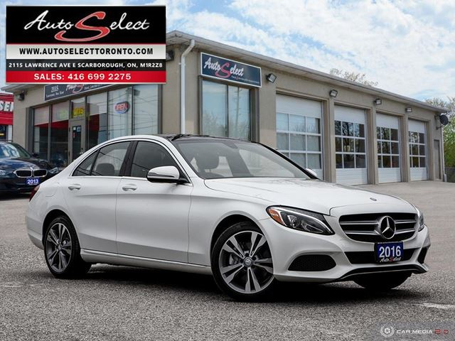2016 MERCEDES-BENZ C-Class 4Matic C300 AWD ONLY 54K! **TECHNOLOGY PKG** CLN CARPROOF in Scarborough, Ontario