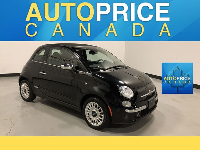 2015 FIAT 500 Lounge LEATHER AUTO CONVERTIBLE in Mississauga, Ontario
