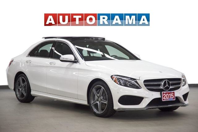 2015 Mercedes-Benz C-Class Sport 4MATIC NAVIGATION SUNROOF LEATHER BACKUP CAM in North York, Ontario
