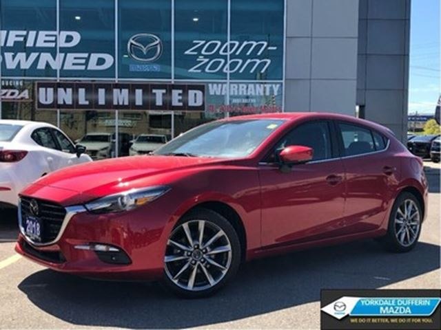 2018 MAZDA MAZDA3 Sport GT,NAV,AUTOMATIC,LEATHER,ROOF,NO ACCIDENT in Toronto, Ontario