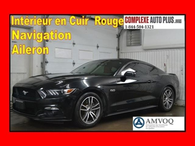 2015 FORD Mustang GT 5.0 V8 Premium *Navi/GPS,Cuir Rouge in Saint-Jerome, Quebec