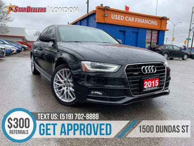 2015 AUDI A4 2.0T Komfort plus   LEATHER   ROOF   AWD in London, Ontario