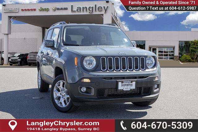 2017 Jeep Renegade North  *NORTH* *NAVI* *COLD WEATHER GROUP* *4X4* in Surrey, British Columbia