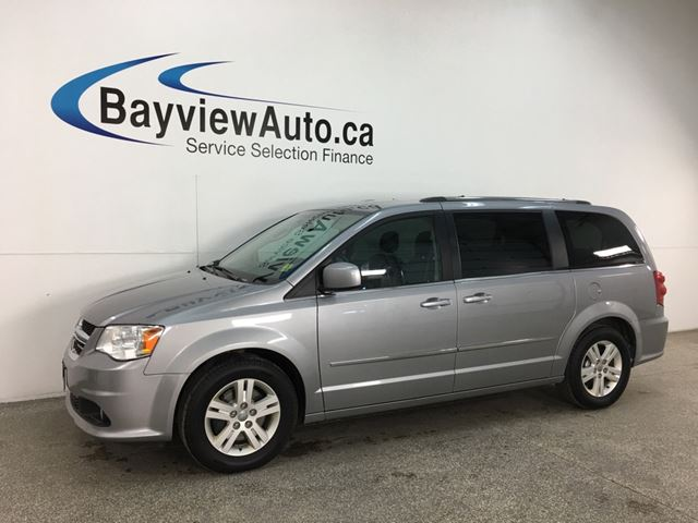 2015 Dodge Grand Caravan Crew - 3 ZONE A/C! STOW 'N GO! HTD LTHR! DVD! ALLOYS! + MORE! in