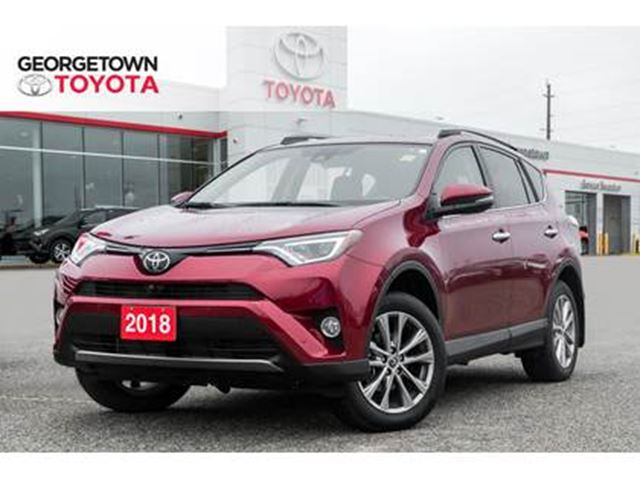2018 TOYOTA RAV4 Limited NAVIGATION BACKUP CAM SUNROOF LEATHER in Georgetown, Ontario