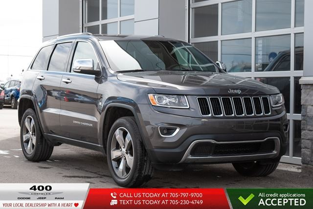 2016 JEEP Grand Cherokee | Limited | LEATHER | SUNROOF | in Innisfil, Ontario