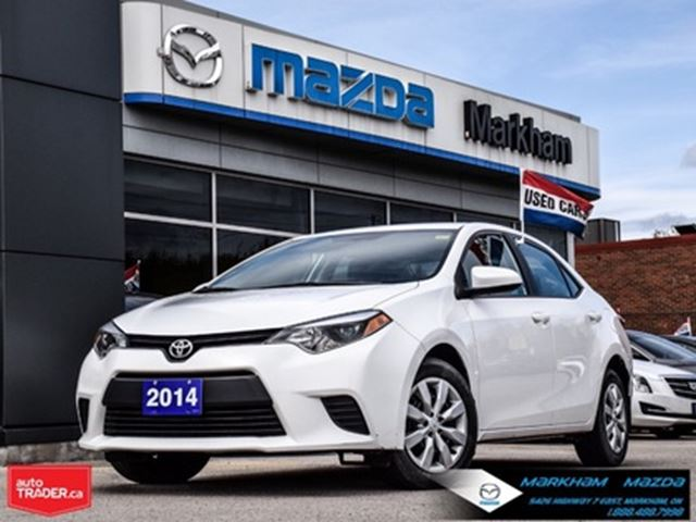2014 TOYOTA Corolla CE Accident Free Finance Available in Markham, Ontario