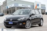 2013 Volkswagen Golf 5-Dr Wolfsburg Edition 2.0 TDI 6sp ONE Owner, N in Mono, Ontario