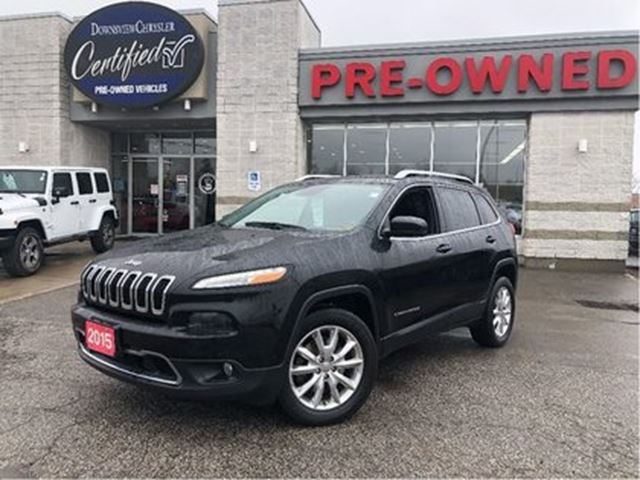 2015 JEEP Cherokee Limited 4x4 w/ NAV, SafetyTec, Luxury Group in Toronto, Ontario