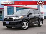 2016 Toyota Highlander LE AWD SOLD AND SERVICED HERE in Collingwood, Ontario