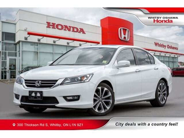 2015 HONDA Accord Sport   Dual-Zone Climate, Rearview Camera, Heated in Whitby, Ontario