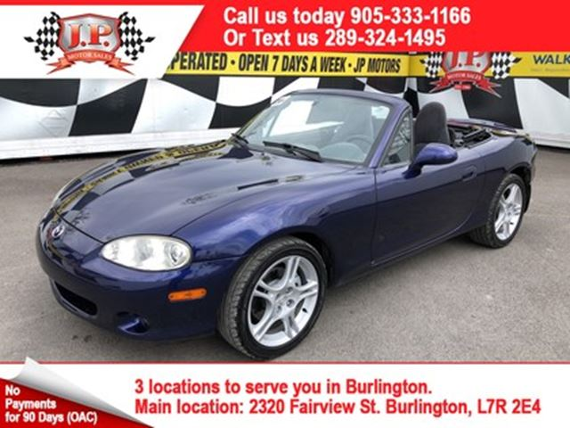 2004 MAZDA MX-5 Miata  GX, Manual, Navigation, Convertible, 51, 000km in Burlington, Ontario