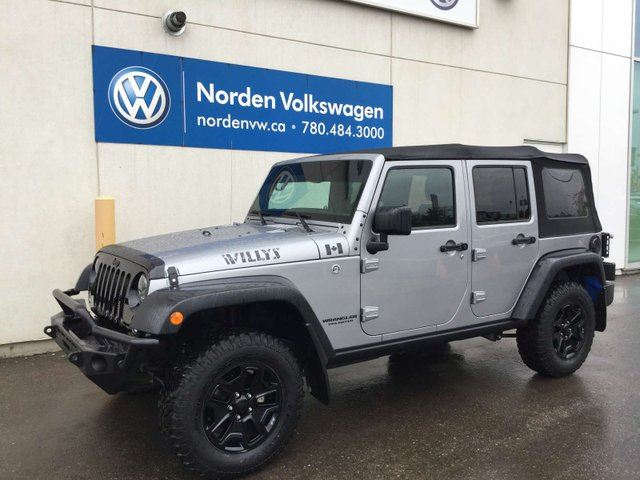 2016 JEEP Wrangler Unlimited WILLYS 4X4 6SPD M/T in Edmonton, Alberta