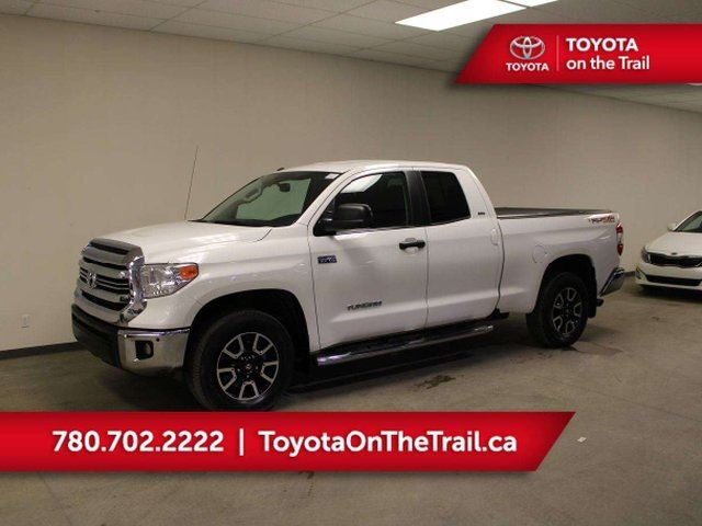 2016 TOYOTA TUNDRA DOUBLE CAB TRD-OFFROAD; 4X4, CAR STARTER, HEATED SEATS, BACKUP CAMERA, TONNEAU COVER, RUNNING BOARDS in Edmonton, Alberta