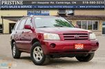2004 Toyota Highlander AWD Only 175km Accident & Rust Free in Cambridge, Ontario