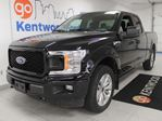2018 Ford F-150 STX 4x4 ecoboost with a back up cam and black on black in Edmonton, Alberta