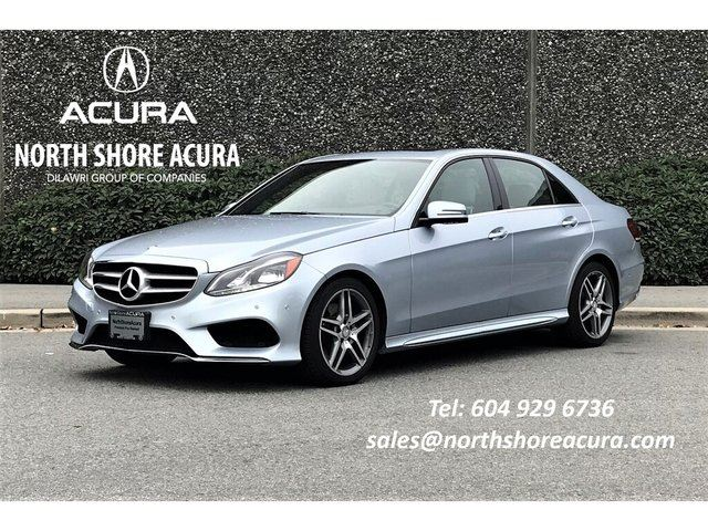2015 MERCEDES-BENZ E-Class 4matic Sedan Local, No Accidents in North Vancouver, British Columbia