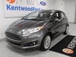 2015 Ford Fiesta Titanium 5-SPD manual FWD hatchback with NAV, heated leather seats and back up cam in Edmonton, Alberta