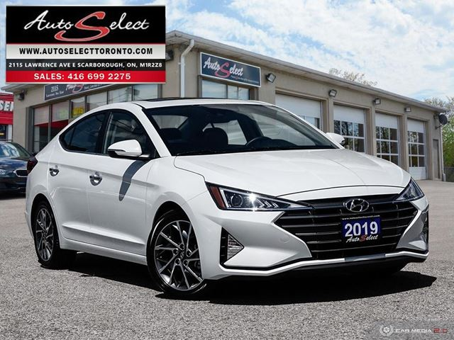 2019 HYUNDAI Elantra ONLY 20K! **LUXURY MODEL**LEATHER**SUNROOF in Scarborough, Ontario