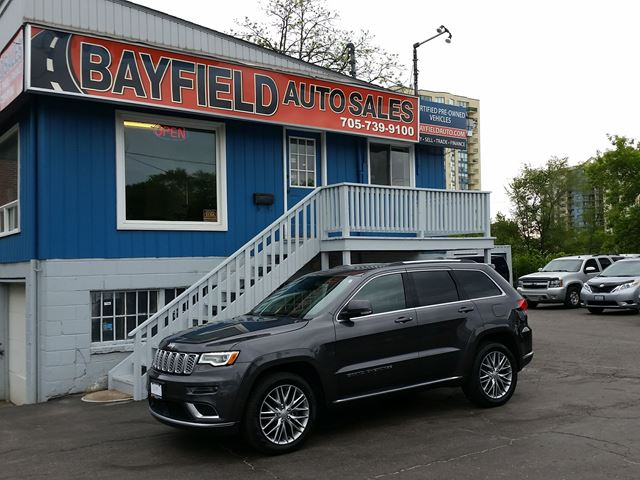 2018 JEEP Grand Cherokee Summit 4x4 **3.6L/Leather/Roof/Navigation/** in Barrie, Ontario
